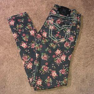 Miss me floral skinny jeans